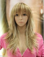 ingrosso nuove parrucche bionde-New Blond Mix Straight Long Women Flurry Wigs