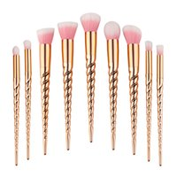 6-10pcs Make-up Pinsel Set / PC Lidschatten Eyeliner Lip Pinsel Pulver Foundation Tool Gold Farbe Günstige Make-up Pinsel