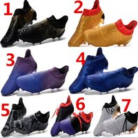 Wholesale Mens Waterproof Boots 39 - 2017 mens fashion waterproof accelerator speed of light ace 16+ Purechaos FG AG Soccer shoes Laceless Cleats Cheap Football boots 39-45