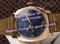Wholesale Swiss Multi - Top Luxury Brand Men's Mechanical Rose Gold Pam Watch Men Retro Pam690 Calf Leather Watches Mens Classic Swiss Made 00423 Wristwatches
