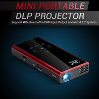 Atacado-Mini Projetor DLP Suporte Wifi Bluetooth HDMI Android 4.2.2 compatível com iPhone Andorid Telefone Laptop PC Mobile LED Projector