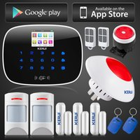 Wholesale Personal Controller - LS111- KERUI ios android app remote controller 8 independent zones GSM home alarm system +wireless flashing siren with anti-pet pir
