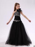 elfenbein burgund blumenmädchen kleider großhandel-Elfenbein Spitze Schatz Burgund Tüll Vintage Blumenmädchen Kleid Tutu Kleid