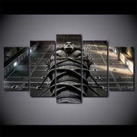 ingrosso tela egizia-5 Pz / set Incorniciato HD Stampato Egitto Cultura La Mummia Canvas Art Pittura Poster Picture Room Parete Quadro Decorativo