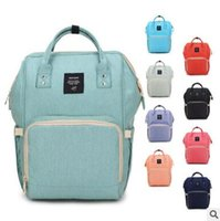 Wholesale Diaper Bag For Fashion Mummy - Backpacks Mummy Diaper Bag Fashion Designer Mom Backpack Famous Brand Large Capacity Desinger Nursing Bag For Baby Care Free Shipping