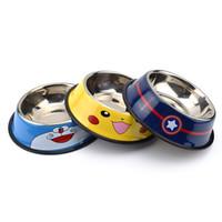 köpek çeşmesi su kap toptan satış-Seyahat Köpekler için Pet Kuru Gıda Kedi Kaseler Pikachu Desen Köpek Kaseler Açık Içme Suyu Çeşmesi Pet Köpek Bulaşık Besleyici Mal