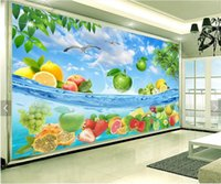 Silk wallpaper special definition - gpapel de parede3D high definition fruit fresh summer Hawaiian seawater living room TV backdrop custom wall paper livi