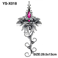 Wholesale Temporary Tattoo Chest - Wholesale- YS-X018 3D DIY Chest Flowers Fall BIG Tattoo Stickers Colorful Hot Flashes Waterproof Tatoo Body Art Temporary TATTOO Sticker