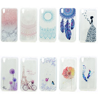 Wholesale Huawei Ascend Phone Cases - Transparent TPU Cover For Huawei Ascend Y6 II Y6 2 Case Fashion colour decoration Tower bike Butterfly Girl Feather Design Phone Case