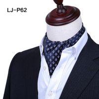 Wholesale tie dye cravat resale online - Elegant Men Paisley Floral Cravat Ascot Tie Vintage Polka Dots Flower Polyester Scarves Neckties Wedding Party Formal Men s Necktie Business