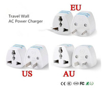 Wholesale Europe Ac Wall Socket - New 1PC Universal US UK AU To EU Plug USA To Euro Europe Travel Wall AC Power Charger Outlet Adapter Converter 2 Round Socket Pin