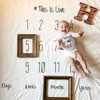 Wholesale Photo Prop Rug - Baby Infant Blanket Wrap Posing Fabric Rug Newborn Letter Backdrop Photo Prop