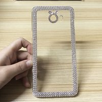 Wholesale Diamond Cases For S4 - For Samsung Galaxy S3 mini S4 Case Luxury Women Girl Glitter Bling Diamond Clear PC Hard Skin For Galaxy C9 Pro ACE 2 N7505 Rhinestone Cover