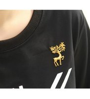 Wholesale Deer Shirt For Men - Wholesale- European Style Vintage Silver Bronze Gold Color Deer Head Mini Shirt Brooch Pins For Women Men Z09