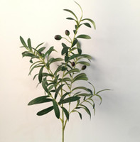 Wholesale Long Branches Artificial Flowers - The artificial plant six branches of the olive branch with or without fruits about 85cm long suit for home and garden decoration AP005