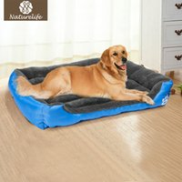Wholesale Blue Kennel - Pet Dog Bed Warming Dog House Soft Material Pet Nest Dog Fall and Winter Warm Nest Kennel For Cat Puppy Plus size Drop shipping