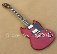 Wholesale G Shop Red - Wholesale-Free shipping G-custom shop SG Standard Lightly Aged Electric Guitar Vintage Red