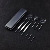 Wholesale Darts Sets - 3 pcs set New High Quality 18g Professional Electronic dart Soft Tip Darts Copper Rod Anti-throw Aluminum Shaft Black Wing Soft Tip Dart Toy