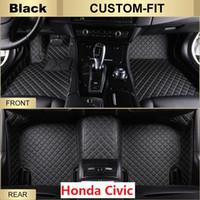 Wholesale Honda Civic Right - Car Floor Mats for Honda Civic,All Weather Carpets Custom Fits-Black Right-Hand-Driver-Model