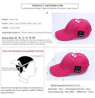 Wholesale Wired Hats - Bluetooth Music Earphone Hat Baseball Caps Sunhat With Bluetooth Travel Sports Bluetooth Headset Stereo Headphone Free Shipping DHL