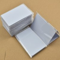 Wholesale Rfid Chips - 50pcs lot ISO14443A NFC Card RFID Smart Tag 1k NTAG215 Chip White Card for All NFC enabled devices