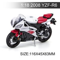 Wholesale Miniature Motorcycle Toys - YMH Motorcycle 2008 YZF-R6 1:18 Metal Diecast Models Motor Bike Miniature Race Toy For Gift Collection