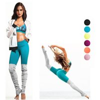 Wholesale Splicing Pants - Women's Splicing Leggings Yoga Leggings Running Tights Fitness Compression Pants High Elasticity Workout Gym Slim Sweatpants S-XL