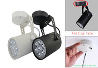 Wholesale 3W W W W W Modern Led track lighting Adjustable Track Light Ceiling Down Lamp Spotlight White Shell