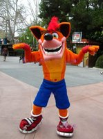 Wholesale Character Mascot Costumes For Sale - 2017 hot Cartoon Character Crash Bandicoot Mascot Costume Adult Size Hot Sale Anime Costumes Carnival Fancy Dress Kits for sport