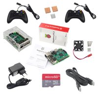 Wholesale Case Fan Cable - Raspberry Pi Game Kit Raspberry Pi 3 + 2 Game Controller + 32GB SD Card +Power Adapter +Acrylic Case + HDMI Cable +Heat Sink+Fan