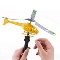 Wholesale Model Aircraft Kits - Handle Pull Plane Aircraft Helicopter Model Aviation Funny Cute Outdoor Toys Children Baby Play Gifts OOA2534