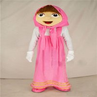 Wholesale Masha Music - Professinal lovely masha and the bear mascot costumes for adults animal mascot costume festival fancy dress factory directly sale