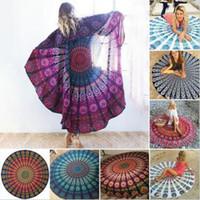 Wholesale Baby Blankets Designs - 37 Designs Mandala Tapestry Wall Hanging Beach Towel Hippie Yoga Mat Shawl Picnic Blanket CCA5629 50pcs