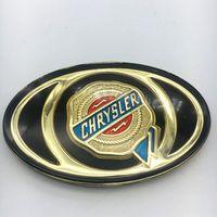 parrilla delantera auto al por mayor-1 unids Para Chrysler 300C Mopar Parrilla Delantera Parrilla Bonete Auto Oro Dorado Insignia de Acrílico Etiqueta Personalizada Headhead Logo