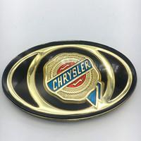 Wholesale vehicle emblems resale online - 1pcs For Chrysler C Mopar Front Grille Grill Bonnet Emblem Auto Golden Gold Acrylic Badge Vehicle Custom Sticker headstock Logo