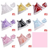 Wholesale Swing Tops Bloomers - Baby Girls Lace outfit Christening Swing Top with shorts Clothing Set Newborn Summer Refreshing Bloomer Set Lace with bow for 0-2T