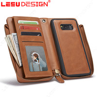 Wholesale Crafts Wholesale For Phone Cases - Luxury 2in1 wallet case with hand craft sewing wallet phone cases card slot Leather Wallet Case s8 plus for samsung s8 plus