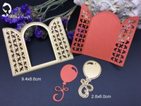 Wholesale Door Paper - Metal cutting dies grid window balloon arch door Scrapbook card album paper craft home decoration embossing stencil cutter