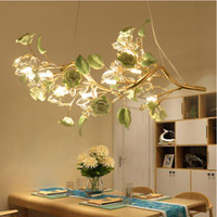 Wholesale Green Table Restaurant - LED restaurant lamp crystal restaurant Pendant Light modern minimalist living room dining room bar dining table Pendant Lights crystal lamps