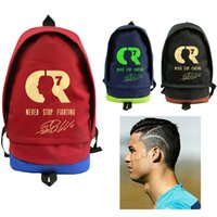 Wholesale Cristiano Ronaldo backpack Best shooter day pack CR7 star school bag Football rucksack Sport schoolbag Outdoor daypack