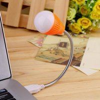 Atacado - Mini USB Lamp for Notebook Flexible USB Night Light Bulb Lamp para Notebook Laptop Keyboard Reading Drop Shipping Promotion