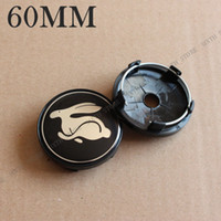 KOM POWER 4PCS 60MM Capuchons de roue Rabbit Sticker Wheel Caps de centre Rabbit Emblem Badge Roues Capot Capuchon pour VW Golf GTI R