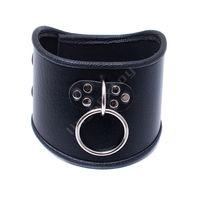 Wholesale dog sex collar for sale - Group buy 520 mm Choker Black Leather Collar With Pull Ring Adjustable Belt Slave Dog Fetish Bondage BDSM Neck Strap Sex Product