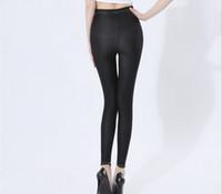 más el modelo de tamaño caliente al por mayor-2017 Venta caliente Plus Size Modelo Jeans Mujeres Algodón Delgado Flaco Super Estiramiento Anti-enganche Sin pilling Media cintura
