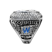 Wholesale Diamond Ring 18 - 2016 CHICAGO CUBS WORLD SERIES CHAMPIONSHIP RING ZOBRIST WITH NUMBER 18 REPLICA RIING US SIZE 8-14 (More than 20pcs DHL FREE)Gifts