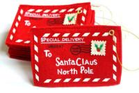 искусственные растения оптовых-Новогодние конверты от Деда Мороза для украшения елки ткань обволакивает для новогоднее украшение бесплатная доставка