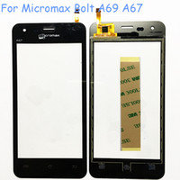 """Wholesale Micromax Screen Glass - Wholesale- High Quality 4.5"""" Sensor Touch Screen For Micromax Bolt A69 A67 Touch Panel Glass Digitizer Replacement+Free Shipping+A67 Logo"""