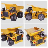 Wholesale Alloy Remote Control Car - RC Car 2.4G 6 Channel RC Truck Toys 1:12 Metal Dump Trucks Remote Control Toys RTR Alloy Truck Wholesale
