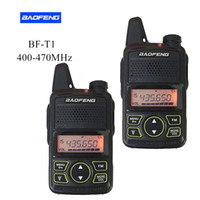 Wholesale Mini Uhf Radio - 2PCS Pair BAOFENG T1 MINI Two Way Radio BF-T1 Walkie Talkie UHF 400-470mhz 20CH Portable Ham FM CB Radio Handheld Transceiver