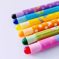 Wholesale Cute Highlighters - Y45 Pack of 6 Cute Mickey Solid Highlighter Paint Marker Pen Drawing Crayon Student Stationery School Office Supply Kids Gift
